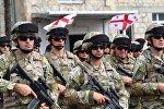 Грузинские военные перед отправкой в Афганистан