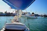 Вид на набережную Батуми с моря