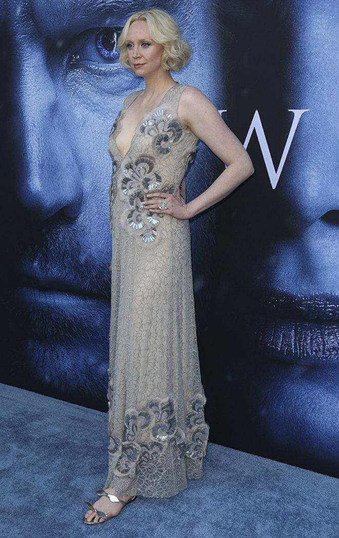 Гвендолин Кристи на премьере «Игры престолов» в Лос-Анджелесе