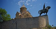 Тбилиси - Метехская церковь и памятник Вахтангу Горгасали