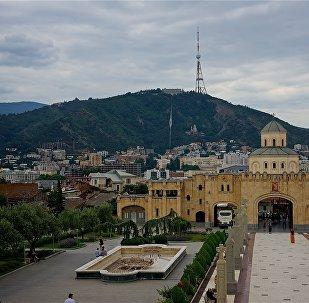 Вид на город Тбилиси