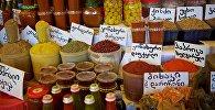 Грузинские специи на рынке