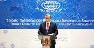 Премьер Грузии Георгий Квирикашвили на амбассадориале в Тбилиси