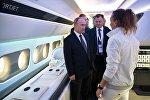 Президент РФ Владимир Путин посетил Международный авиасалон МАКС-2017 в подмосковном Жуковском