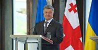 Президент Украины Петр Порошенко во время визита в Грузию