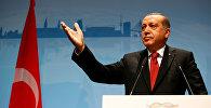 Президент Турции Тайип Эрдоган на саммите G20 в Гамбурге