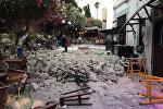 Последствия землетрясения у побережья Греции и Турции