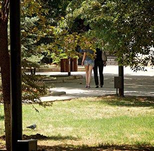 В одном из парков столицы Грузии летним днем