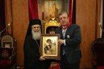 Патриарх Святого града Иерусалима и всея Палестины Феофил Третий и премьер Грузии Георгий Квирикашвили