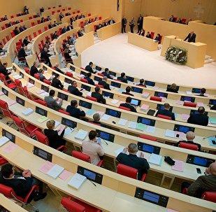Президент Грузии Георгий Маргвелашвили выступает в парламенте
