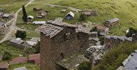 Высокогорный район Тушети в Ахметском районе региона Кахети