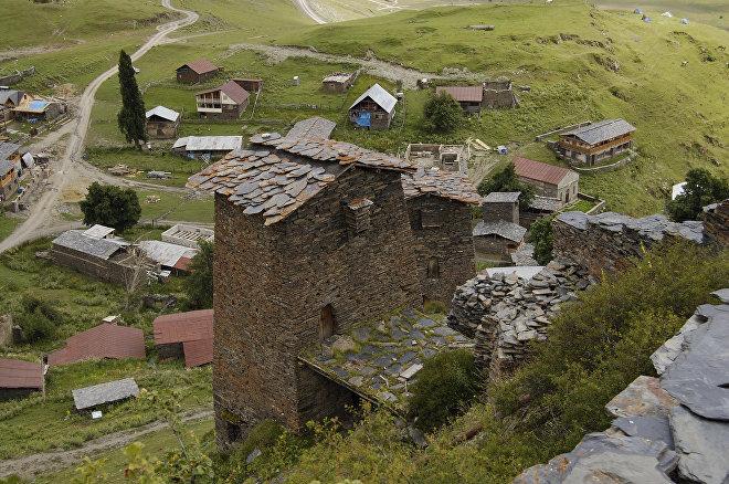 Село Омало в регионе Тушети