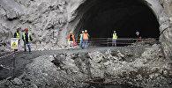 Строительство тоннеля на Военно-Грузинской дороге