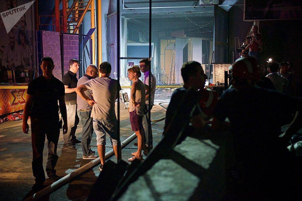 В результате пожара в здании телекомпании Рустави 2 сгорела только небольшая часть ее имущества, пострадавших среди персонала и сотрудников ТВ не было