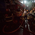 По данным пожарных, в техническом помещении пострадало около 30 квадратных метров из 350