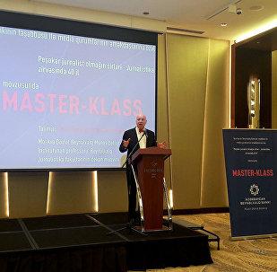 Профессор МГИМО Юрий Кобаладзе провел в Баку мастер-класс Секреты профессиональной журналистики – 40 лет на вершине журналистики