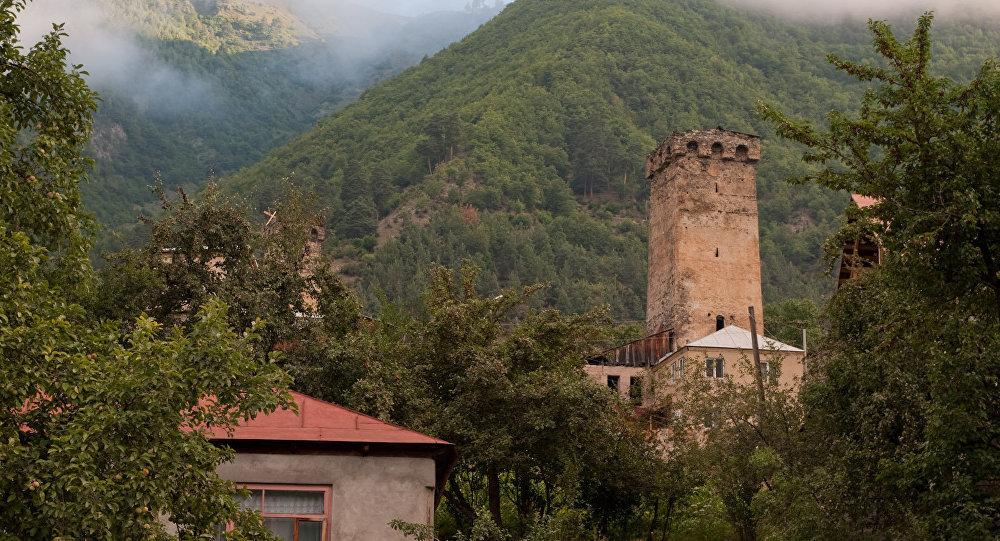 Сванская башня в Местиа