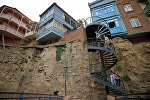 Район Абанотубани в историческом центре Тбилиси