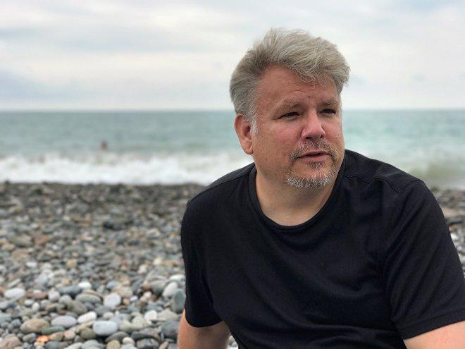 Эрик Вейд на Батумском пляже