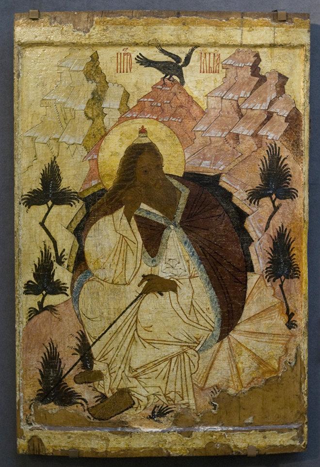 Икона Пророк Илья в пустыне (XV в.)