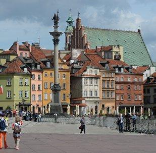 Замковая площадь и колонна короля Сигизмунда в Варшаве