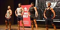 Мужчины-участники впервые в Грузии на соревнованиях по бодибилдингу и фитнесу состязались в категории Лучшие фитнес-модели