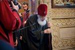 Католикос Патриарх Всея Грузии Илия Второй на праздничной службе в Сиони