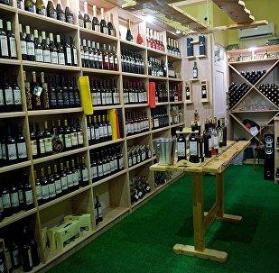 Магазин грузинских вин в центре грузинской столицы
