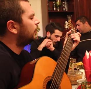 Грузинское застолье под гитару