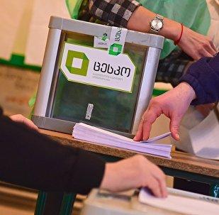 На избирательном участке во время голосования