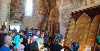 ხობის მონასტერში ივერიისა და აწყურის ღვთისმშობლის ხატები დააბრძანეს