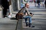 Модный фотограф-турист на проспекте Руставели
