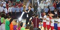 Заза Пачулия представил Кубок чемпионов НБА грузинским болельщикам