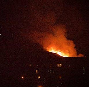 Пожар на горе Мтацминда был хорошо виден из любой точки грузинской столицы