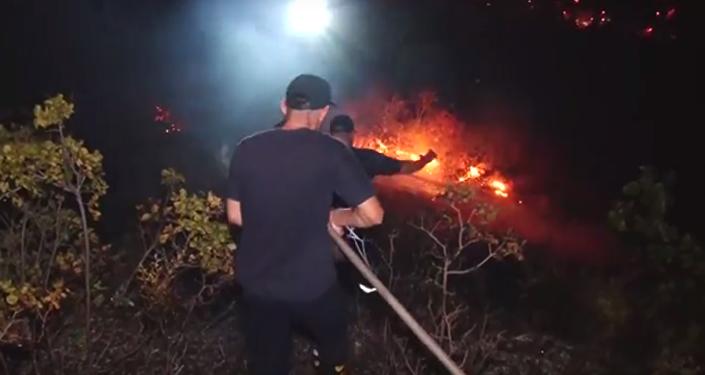 Пожар на горе Мтацминда