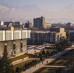 Панорамный вид на город Бишкек