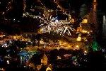 Салют над старым Тбилиси