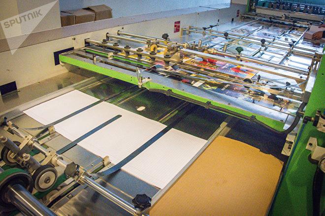 Процесс производства тетрадей