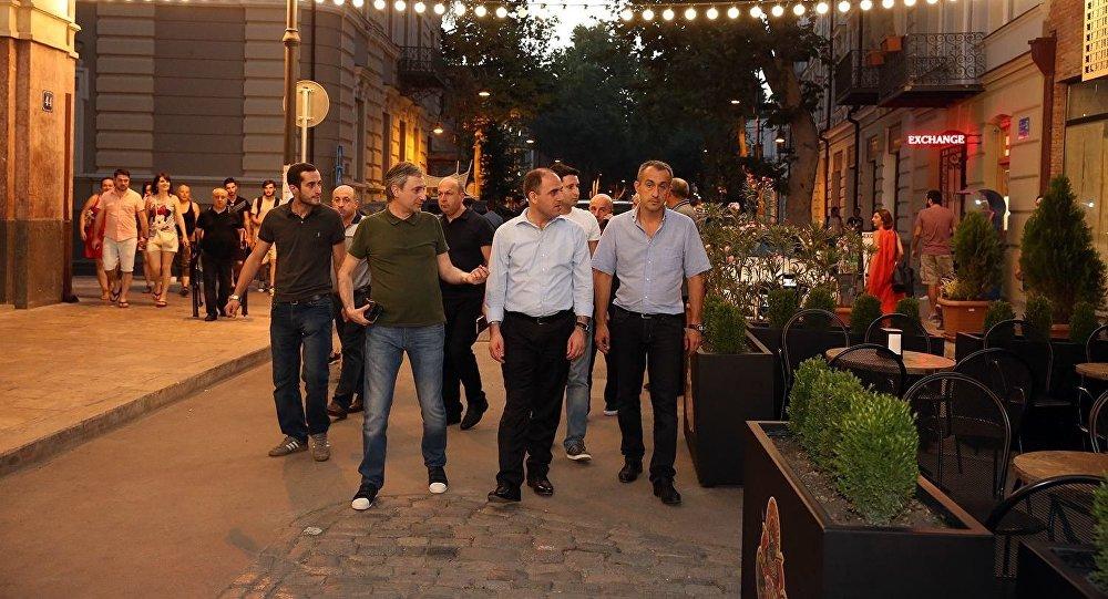 Мэр Тбилиси Давид Нармания посетил Старый Тифлис