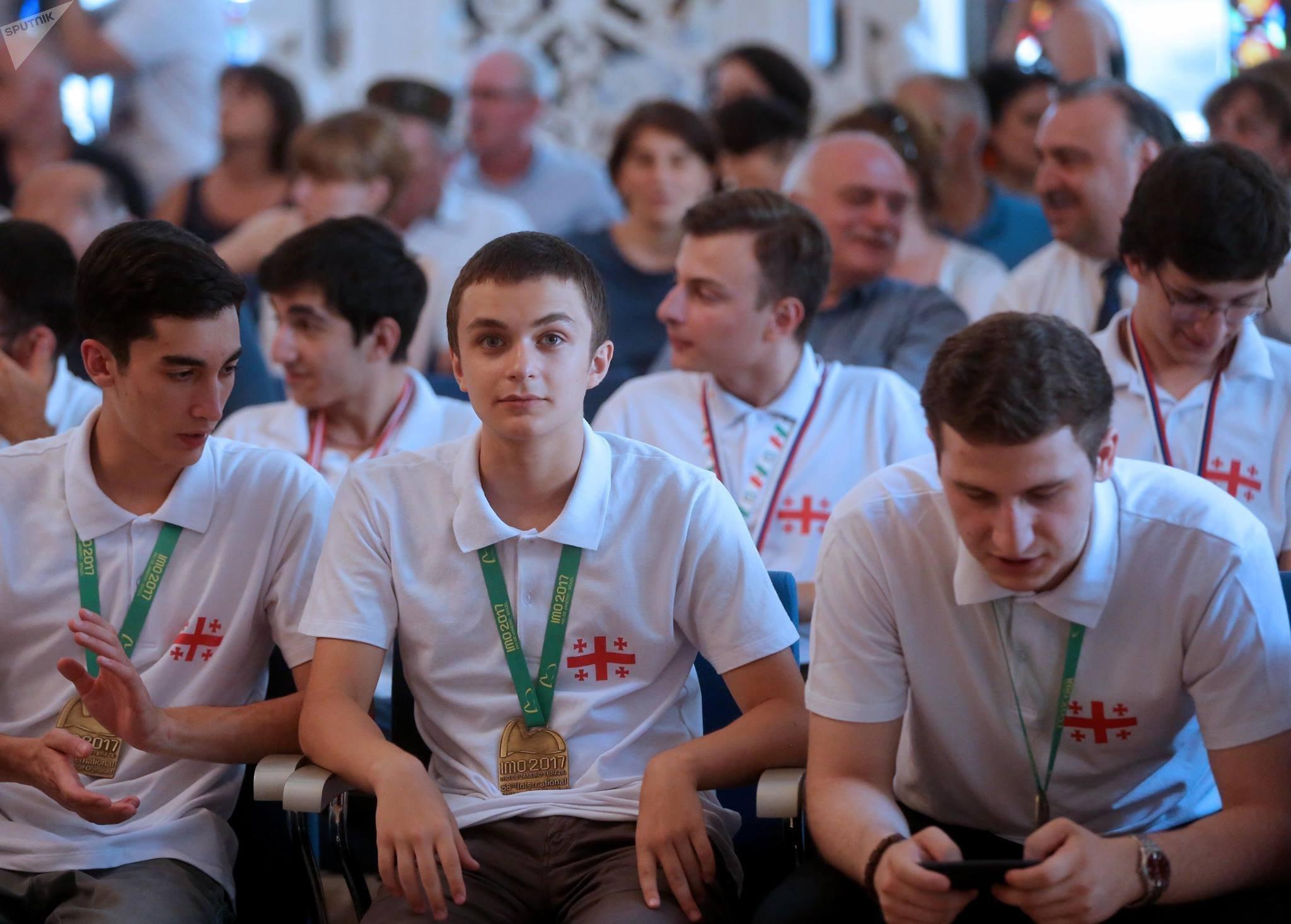 Церемония награждения победителей международных олимпиад