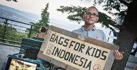Британец приехал в Грузию, чтобы привлечь внимание к проекту по оказанию помощи бездомным детям и сиротам