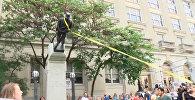 Борьба с историей: в США скинули памятник войскам Конфедерации