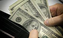 Денежные купюры. Доллары США.