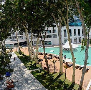 Одна из летних рекреационных зон под открытым небом в Батуми