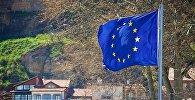 Флаг ЕС на одной из тбилисских улиц