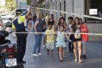 Людей эвакуируют с улицы Рамбла в Барселоне