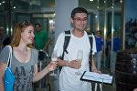 Турист из Украины Алекси Тучак, миллионный пассажир батумской канатной дороги