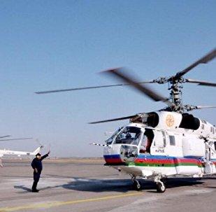 აზერბაიჯანის საგანგებო სიტუაციების სამინისტროს ვერტმფრენი
