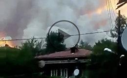 Огонь у жилых домов: как горит лес в Боржоми