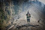 Пожарный в Боржоми-Харагаульском лесу